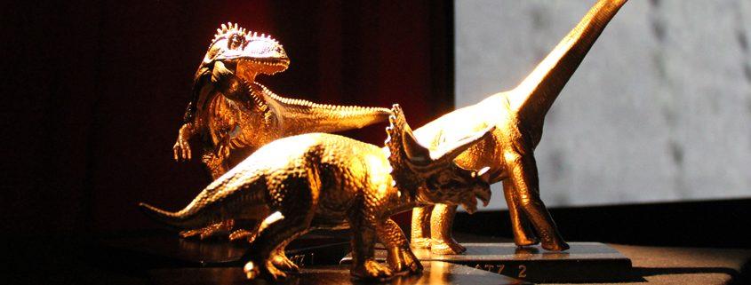 Die drei Dinos beim Kinder- und Jugendfilmwettbewerb im Lichtwerk