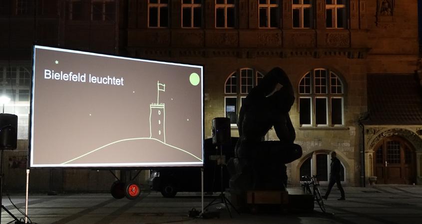 Bielefeld leuchtet am Rathaus Bielefeld 2017
