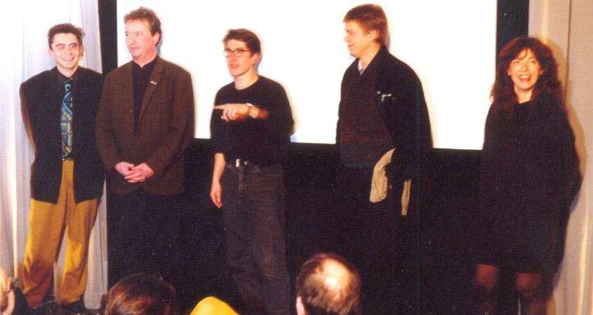 Die Lichtwerk Gründer von 1985 bei Jubiläum 1990