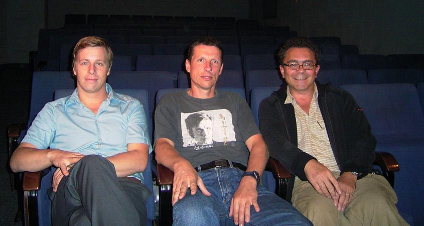 Die Lichtwergruppe plante bereits 2004 das Lichtwerk im Ravensberger Park: Matthias Goßmann, Ronald Herzog, Jürgen Hillmer.