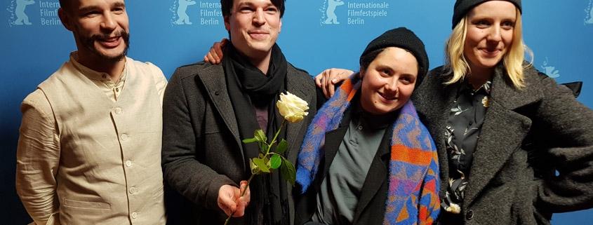 Hristiana Raykova mit Team auf Berlinale