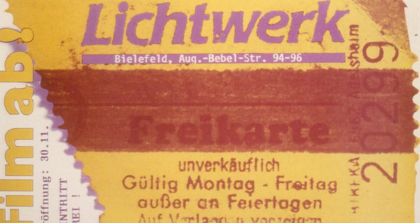 Lichtwerk Eröffnungsparty 1985