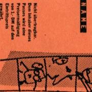 Lichtwerkpass mit Karikaturen der Gründer