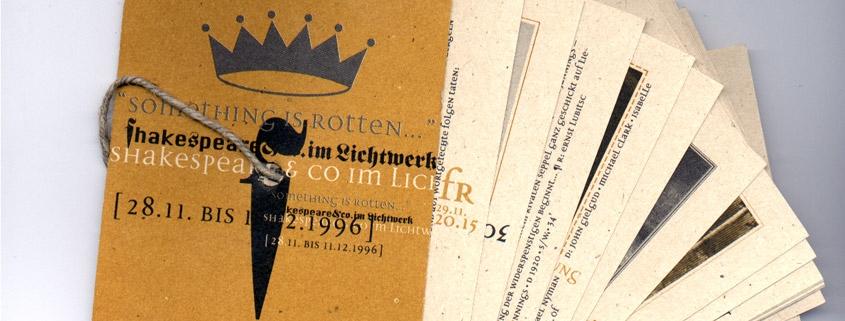 Shakespeare-Filmfestival im Lichtwerk 1996
