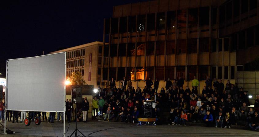 Bielefeld leuchtet am Rathaus