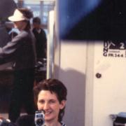 Barbara Witych bei Dreharbeiten