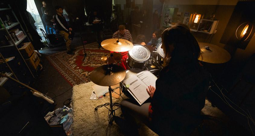 Textlernen am Drumset