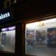 Filmhaus leuchtet an der August-Bebel-Straße