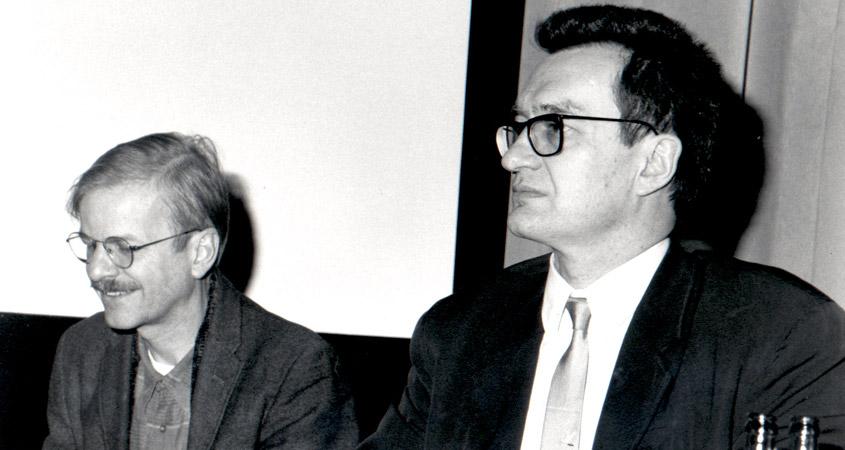 Wim Wenders mit Karsten Witte im Lichtwerk 1991