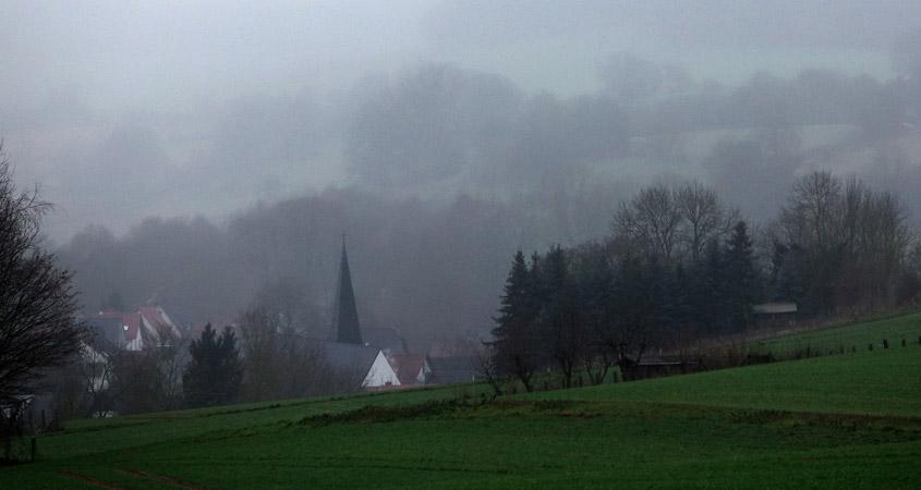 Land in Sicht Dorfanblick