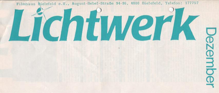 Lichtwerk Flyer Design 1986
