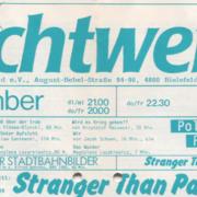 Lichtwerk Programm Dezember 1986 (Ausschnitt)