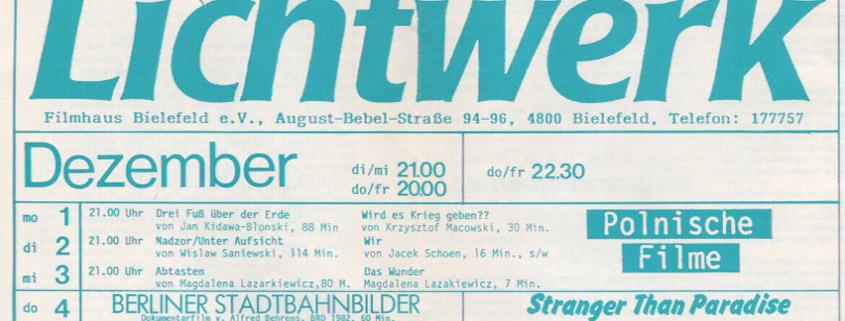 Bielefeld Lichtwerk Programm