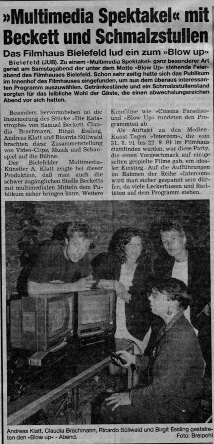 WestfalenBlatt vom 3. September 1991