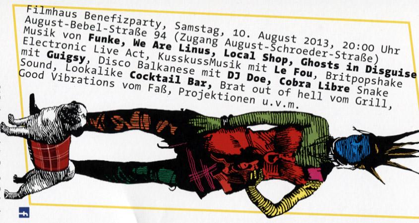Filmhaus Partyflyer 2013