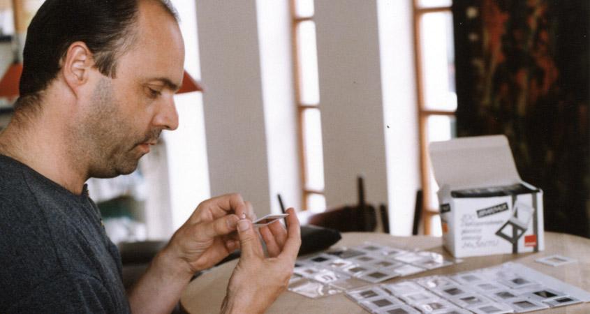 Bernd Kegel bei der Filmquizvorbereitung