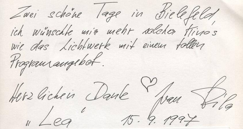 """Ivan Fila mit """"Lea"""" zu Gast im Lichtwerk 1997"""