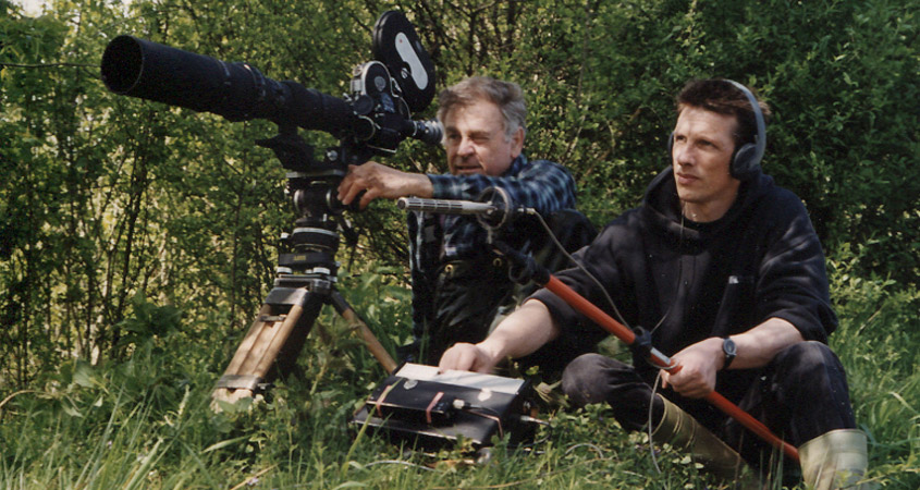 Gottfried Klose (links) bei Dreharbeiten