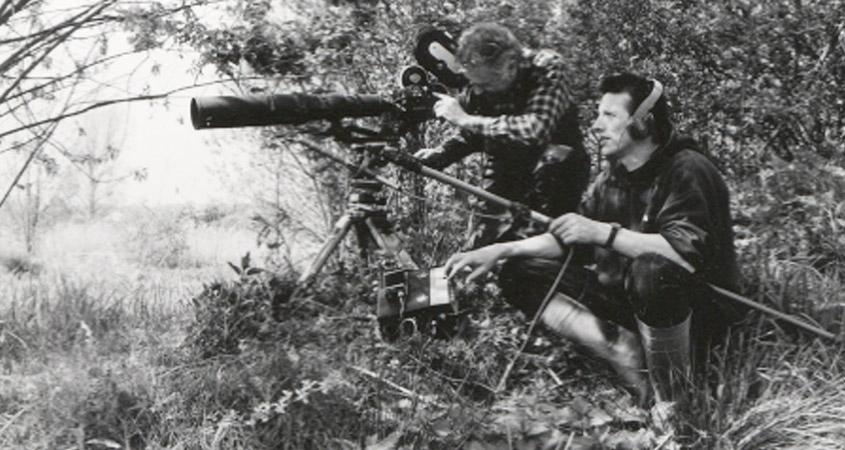 Gottfried Klose und Ronald Herzog bei Dreharbeiten 1998