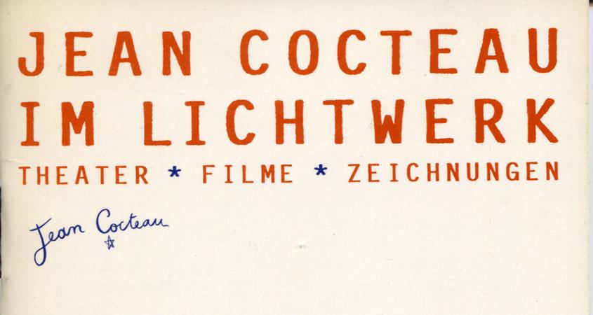 Cocteau-Festival im Lichtwerk 1987