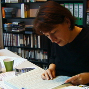 Gisela Heise im Filmhausbüro