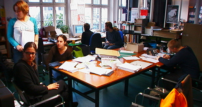 Kinderfilmfest-Vorbereitung im Filmhaus 2000