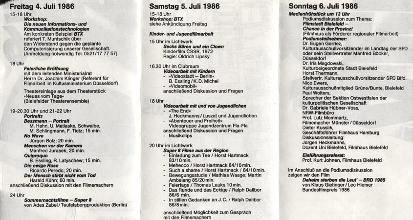 Totale Programm 1986
