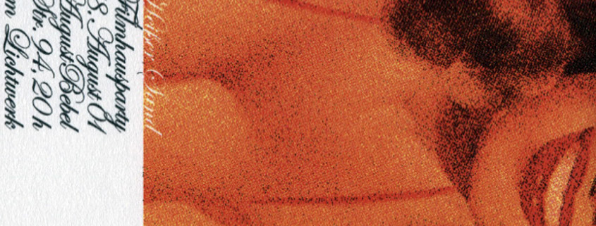 Filmhausparty-Flyer Heißer Sand 2001