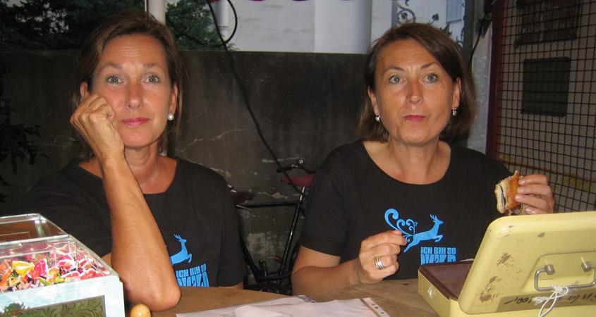 Harte Tür mit Irmela und Gilla 2008