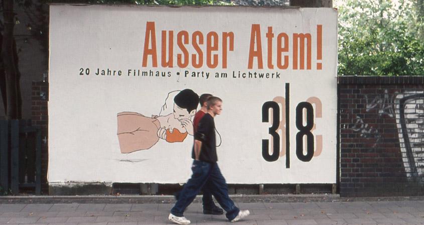 Ausser Atem Filmhausparty Plakatwand 2002